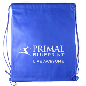 Live Awesome Drawstring Backpack