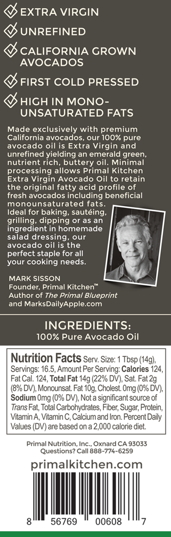 Purchase heart healthy primal kitchen extra virgin avocado oil 3 placeholder malvernweather Image collections